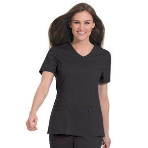 Landau Women's Black WorkFlow Stretch V-Neck Tunic